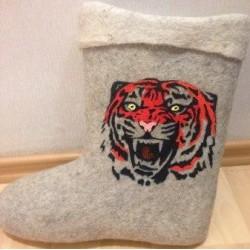 "Валенки мужские короткие ""Тигр"""