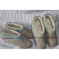Тапочки ручной валки 100% овечья шерсть 36-47 размер цена, купить тапочки ручной валки недорого в интернет магазине